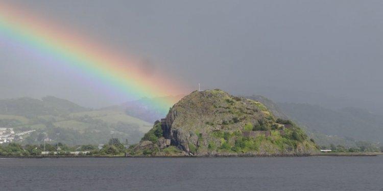 Rainbow over Dumbarton Rock