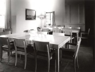 Fellows Building dining area, 1962