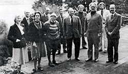 Founding Council customers at their particular first conference at Auchendarroch in 1978