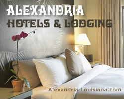 resorts, motels and other lodging in Alexandria Louisiana